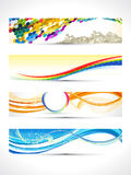 Abstract multiple banner set Stock Photos