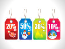 Abstract multiple chrismas sale tag Stock Image