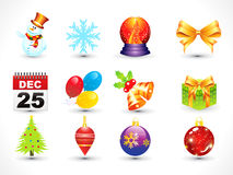 Abstract multiple christmas icon set Stock Image