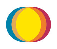 Abstract Multiple Color Circle Design Royalty Free Stock Photo