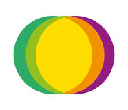 Abstract Multiple Color Circle Design Stock Photography