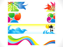 Abstract multiple colorful banners background Royalty Free Stock Image