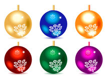 Abstract multiple colorful christmas balls Royalty Free Stock Photos