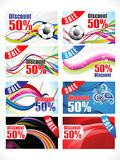 Abstract multiple colorful discount card Stock Photos
