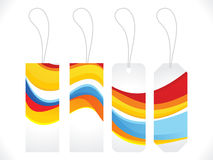 Abstract multiple colorful sale tag Stock Photos