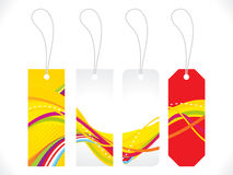 Abstract multiple colorful sale tag Stock Photography