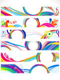 Abstract multiple colorful web banners. Vector illustration Royalty Free Stock Image