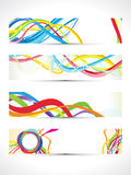 Abstract multiple colorful web banners. Vector illustration Stock Photos