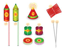 Abstract multiple crackers background. Vector illustration Stock Photo