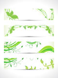 Abstract multiple eco banner set Royalty Free Stock Images