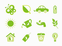 Abstract multiple eco icon Stock Photos