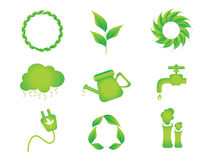 Abstract multiple eco icon. Vector illustration Royalty Free Stock Photography