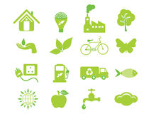 Abstract multiple eco icon. Vector illustration Stock Photos