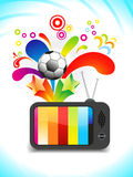 Abstract multiple entaintment tv icon Royalty Free Stock Photos