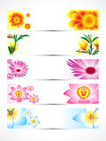 Abstract multiple floral banner set Royalty Free Stock Photos