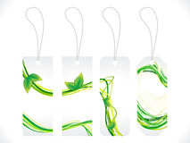 Abstract multiple green eco sale tag Royalty Free Stock Photos