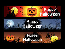 Abstract multiple halloween banners Stock Photos