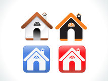 Abstract multiple home icon set Stock Photo