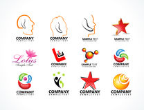 Abstract multiple logo icons Royalty Free Stock Photos