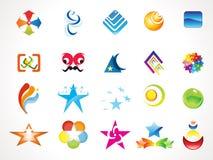 Abstract multiple logo templates Stock Photos