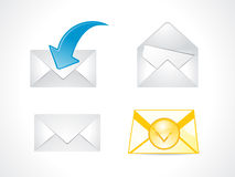 Abstract multiple mail icon Royalty Free Stock Photos