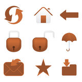 Abstract multiple mail icon. Vector illustration Stock Photography
