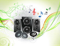 Abstract multiple music instruments background. Vector illustration Royalty Free Stock Image