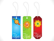 Abstract multiple rakshabandhan sale tags backgrou Royalty Free Stock Image
