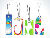 Abstract multiple sale tag set Stock Image