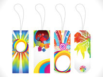 Abstract multiple sale tags background Royalty Free Stock Photos