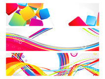 Abstract multiple web banners background Stock Images