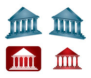 Abstract Museum icon set. On white background Stock Photos