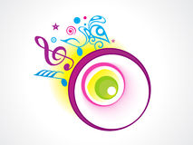 Abstract music. Abstract colorful glossy music background vector illustration Stock Photography
