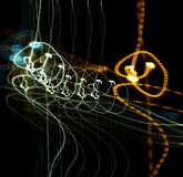 Abstract music. Abstract shot of a lights stock photography