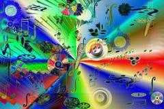 abstract music Στοκ Εικόνα