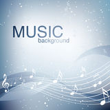 Abstract Music Background Stock Photography