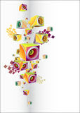 Abstract music background. Abstract BACKGROUND FROM 3D CUBES vector illustration