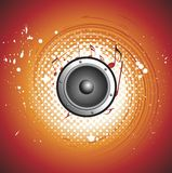 Abstract music background. Vector image illustreations is a  abstract music background creative design Stock Image