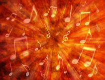 Abstract Music Background. An abstract warm background with music notes Stock Photos