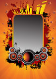 Abstract music background. Clip-art Stock Illustration