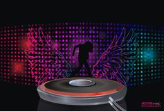 Abstract music background. Illustration vector Royalty Free Stock Photography