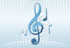 Abstract music background. Art illustration Royalty Free Stock Photography