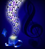 Abstract music background Stock Images