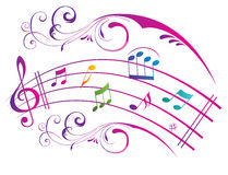 Abstract Music Background. Royalty Free Stock Image