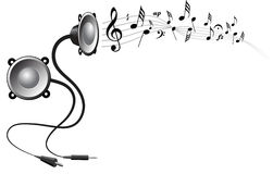 Abstract music background. Speakers on white background Stock Photo