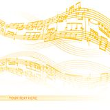 Abstract music background. With space for your text Royalty Free Stock Photos