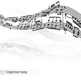 Abstract music background. With space for your text Stock Photos
