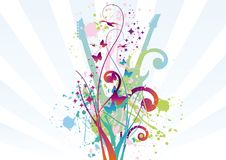 Abstract Music Background. Vector illustration Royalty Free Stock Photography