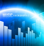 Abstract music background Royalty Free Stock Photos