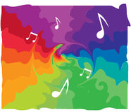 Abstract Music Background. Design, AI 10 supported Stock Photo
